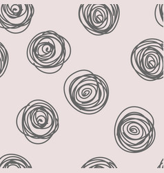 hand drawn circle background vector image