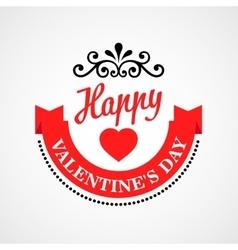 Happy Valentine Day Typographical Background vector image