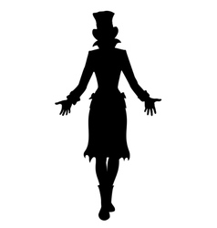 Hat woman silhouette vector