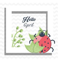 hello april design vector image