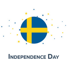 independence day of sweden patriotic banner vector image