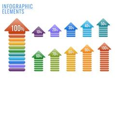 Infographics elements percent progress vector