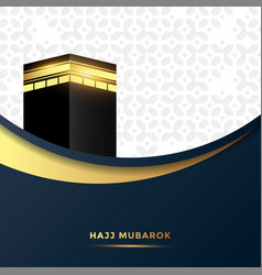 Islamic design hajj greeting card vector