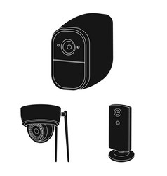 Isolated object cctv and camera sign vector