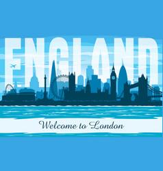 london united kingdom city skyline silhouette vector image