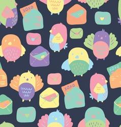 Love Letter seamless pattern vector image