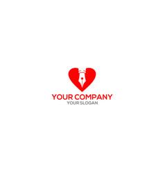 Love writer logo design vector
