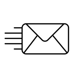 mail thin line icon envelope vector image