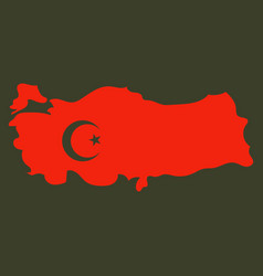 map of turkey filled with flag of the state vector image