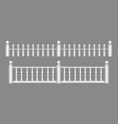 Marble balustrade balcony railing or handrails vector