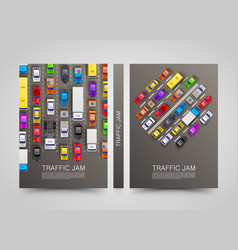 modern transport vertical banners road flyer set vector image