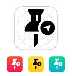 Navigation pin icon vector image