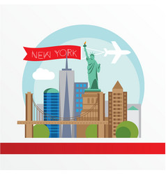 New york detailed silhouette trendy vector