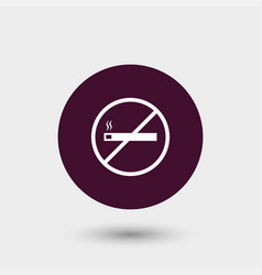 No smoking icon simple vector