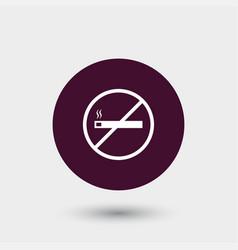 No smoking icon simple vector