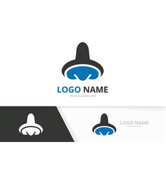 Nose logo template ent clinic vector