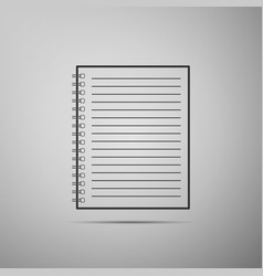 notebook icon isolated spiral notepad icon vector image