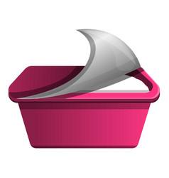 pink yogurt icon cartoon style vector image