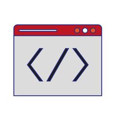 Programming code windows symbol technology vector