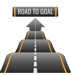 Road to goal abstract way to success achievement vector