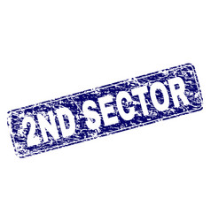 Scratched 2nd sector framed rounded rectangle vector