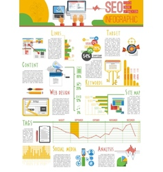 Seo infograhic report poster vector image