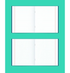 Set of open notebook in a cage and the line vector image