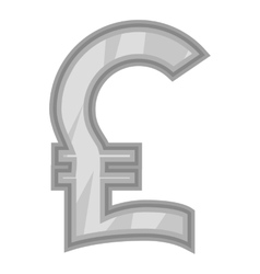 Sign of money pound sterling icon vector image
