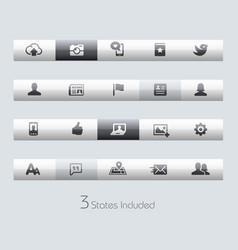 social web - toolbars vector image