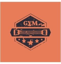 Sport emblem grunge vector image