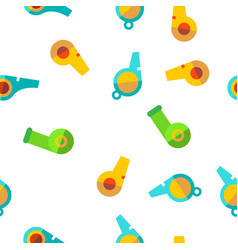 sport plastic whistle seamless pattern vector image