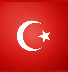 Star and crescent - symbol of islam icon vector