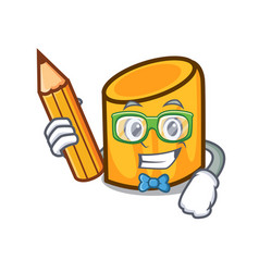 Student rigatoni character cartoon style vector