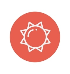 Sun thin line icon vector