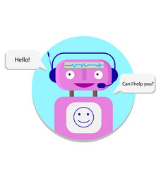 support service bot vector image