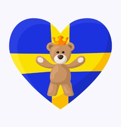 Swedish Royal Teddy Bear vector image