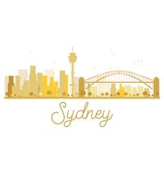Sydney City skyline golden silhouette vector