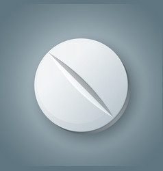 tablet pill pharmacology icon on the grey vector image