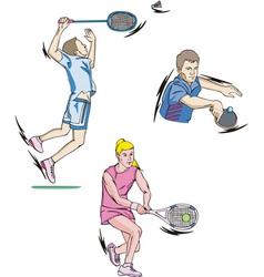 Tennis and Badminton vector