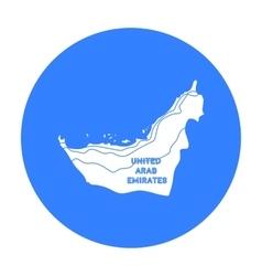 Territory of United Arab Emirates icon in black vector image