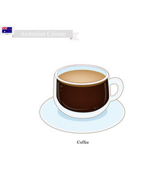 traditional hot coffee popular drink in australia vector image