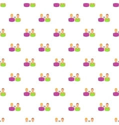 Two men gay pattern cartoon style vector