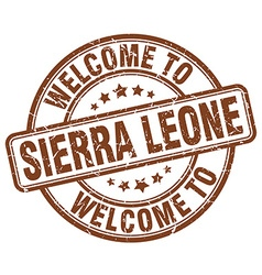 welcome to Sierra Leone vector image