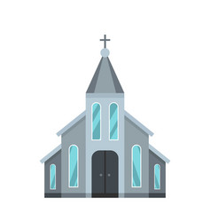 Western church icon flat style vector