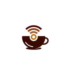 Wifi coffee logo icon design vector
