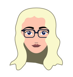 woman hipster avatar vector image