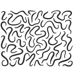 Worm pattern silhouette parasite soil worms vector