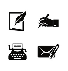 writing and typewriting simple related vector image