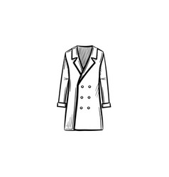 coat hand drawn sketch icon vector image