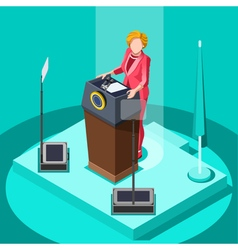 Election Infographic Politic Work Isometric People vector image